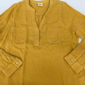 NWT Mote tunic mustard yellow shirt pullover XL